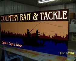 country bait & tackle sign
