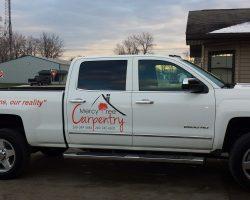 carpentry car sign